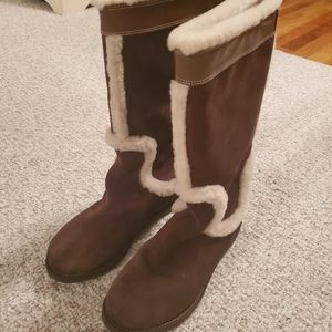 Cole Haan Brown Suede Tall Boots